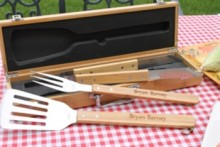 engraved grill tools set