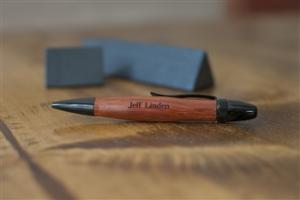 engraved wood pen image