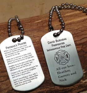 Firefighter Dog Tags